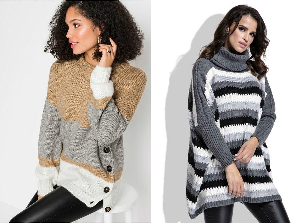 swetry w paski