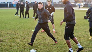 Pierwszy po zimowej przerwie trening piłkarzy Zawiszy