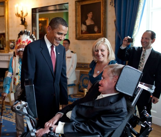 Stephen Hawking i Barack Obama