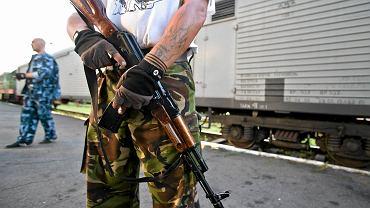 Prorosyjscy separatyści pilnują pociągu z ciałami ofiar katastrofy