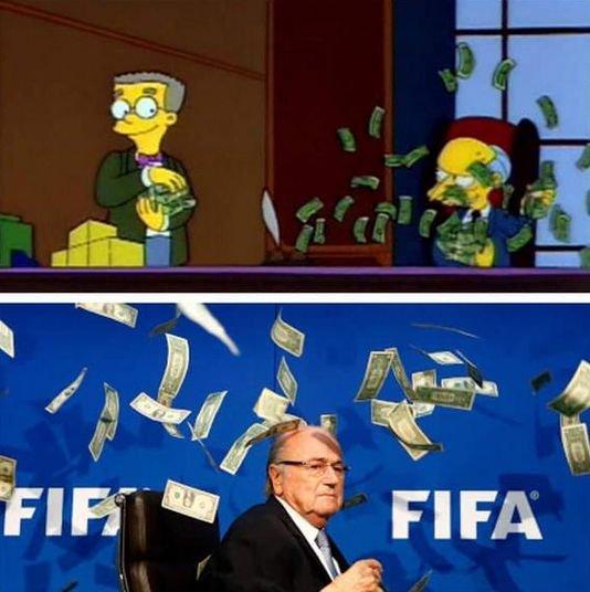 Zdjęcie numer 3 w galerii - Sepp Blatter, deszcz banknotów i... siatka na motyle? [MEMY]