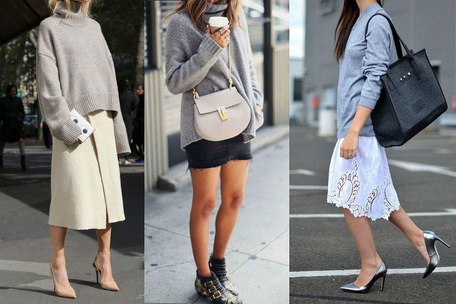 24b72d0967bee3 Sweter oversize i spódnica - jak nosić ten zestaw by wyglądać stylowo?