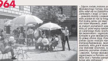 Turniej w szachy błyskawiczne, Poznań, 22 lipca 1964