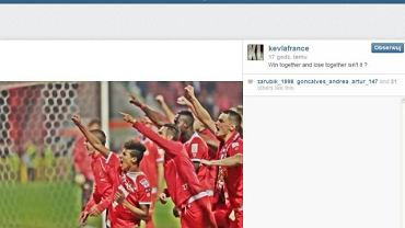 Wpis Kevina Lafrance'a na Instagramie