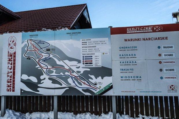 trasy narciarskie na Skrzycznem