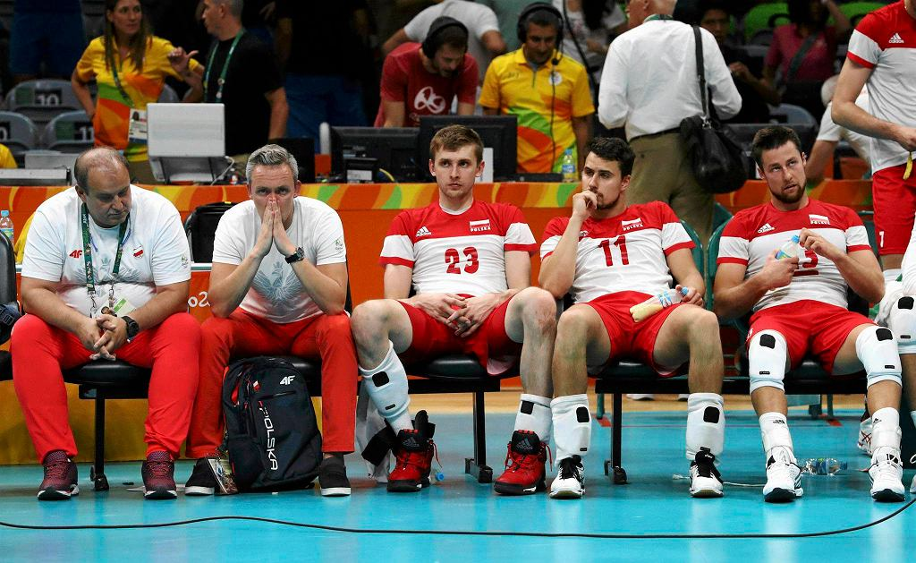 Polscy siatkarze po porażce z USA