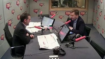 Jan Wróbel i poseł PiS  Łukasz Schreiber
