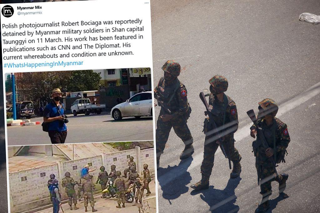 Doniesienia o zatrzymaniu polskiego fotoreportera w Mjanmie