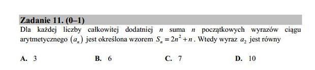 Matura poprawkowa 2016 matematyka, Zad. 11