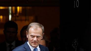 Donald Tusk po wizycie na Downing Street u poprzedniczki Johnsona, Theresy May