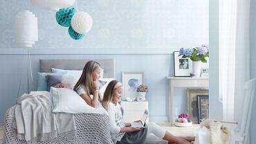 Dziecięca sypialnia w błękicie