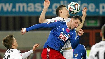 Kamil Wilczek w meczu Piast Gliwice - GKS Bełchatów 3:1