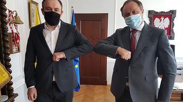 Tomasz Augustyniak i marszałek Mieczysław Struk