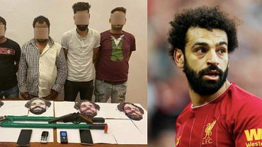 Mężczyźni, którzy napadli na sklep w Egipcie przebrani za Mohameda Salaha. Źródło: Twitter
