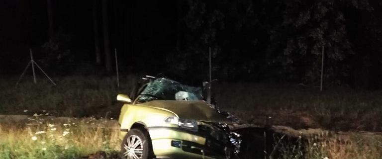 Czołowo uderzył w samochód z rodziną. Uratowano dwójkę dzieci, nie żyje ojciec