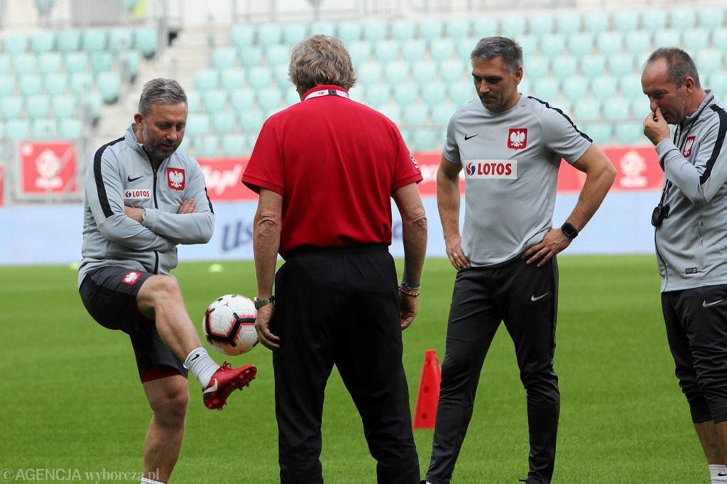 Trening reprezentacji na Stadionie Wrocław przed meczem Polska - Irlandia