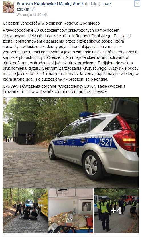 Post starosty Macieja Sonika
