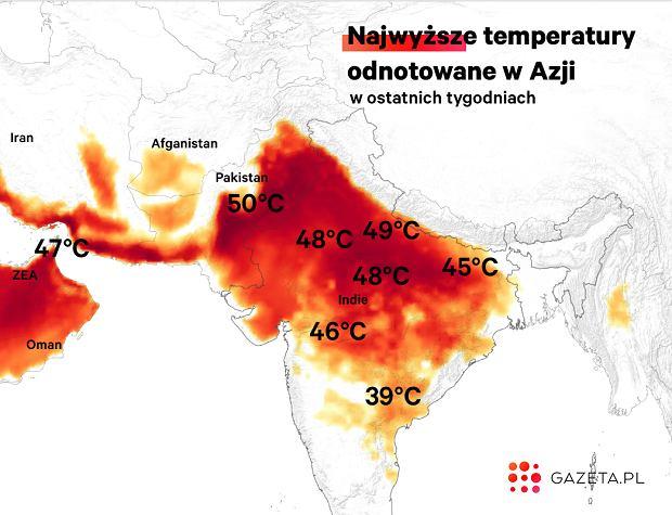 W niektórych częściach Azji jest już gorąco jak w piekle