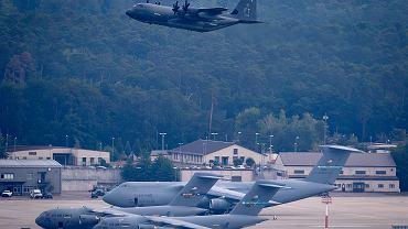 Niemcy. Samolot wojskowy USA startuje w bazie w Ramstein.