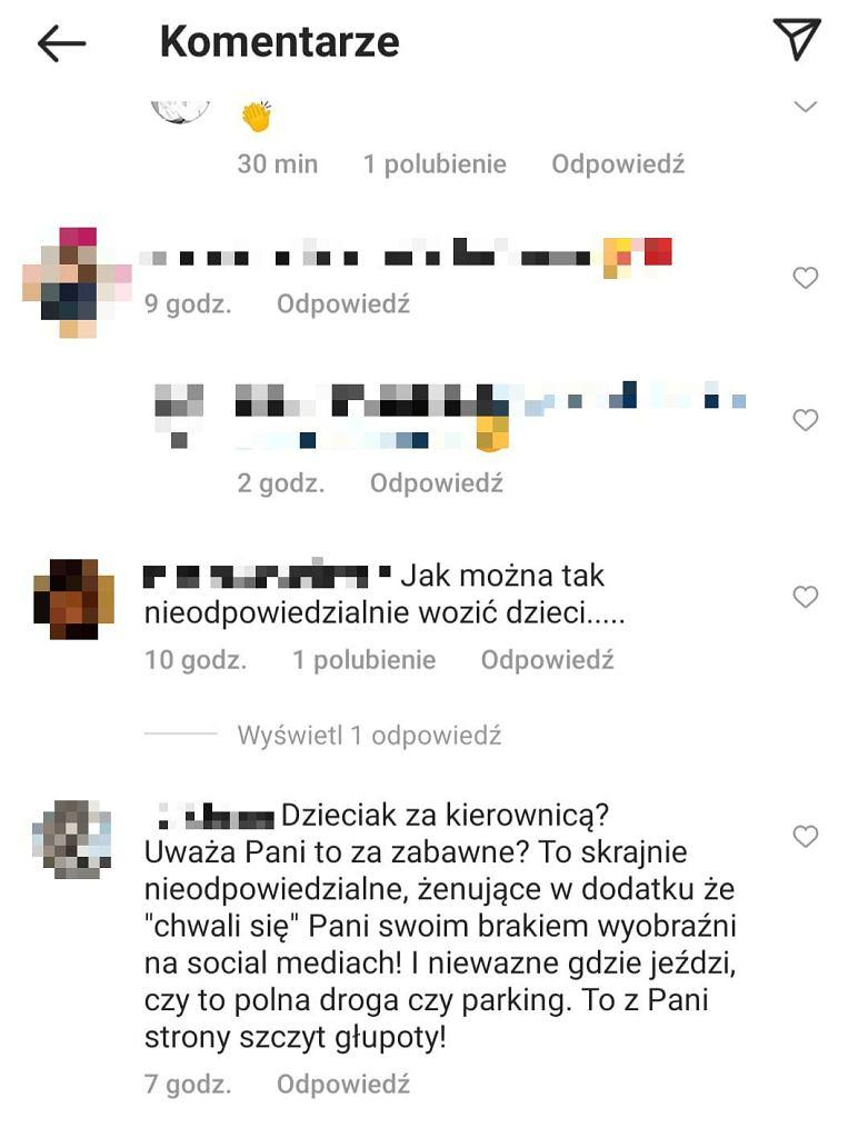komentarze na profilu Anny Korcz