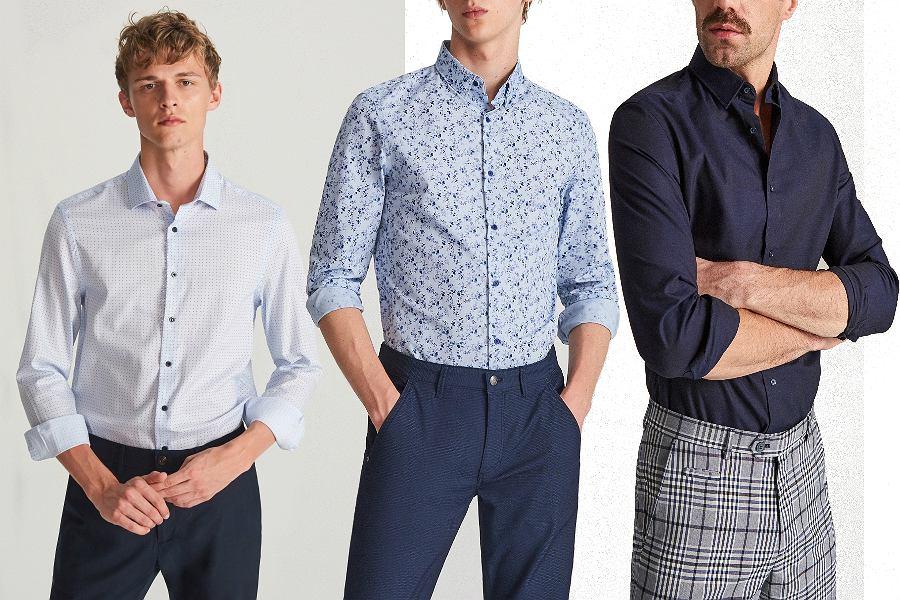 Eleganckie koszule męskie z wyprzedaży