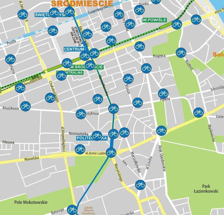 Znamy Lokalizacje Wszystkich Nowych Stacji Veturilo Mapa