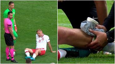 Kontuzja Kamila Glika w trakcie meczu Polska - Islandia