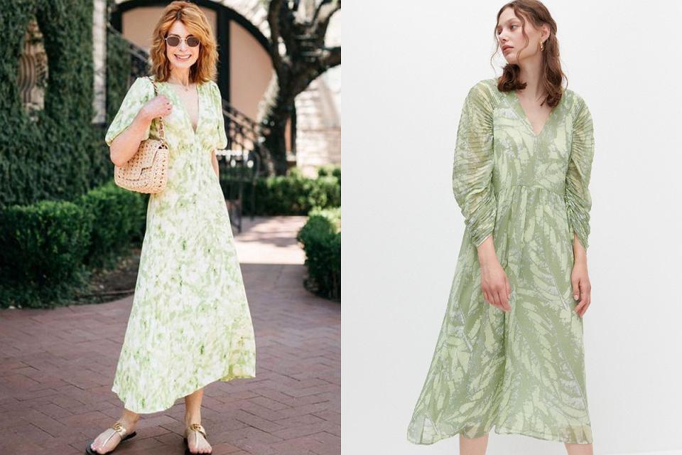 Zwiewna sukienka z rękawkiem sprawdzi się dla dojrzałych kobiet