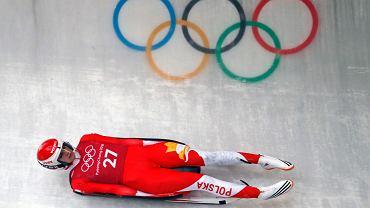 Ewa Kuls-Kusyk podczas treningu na zimowych igrzyskach olimpijskich w Pjongczangu