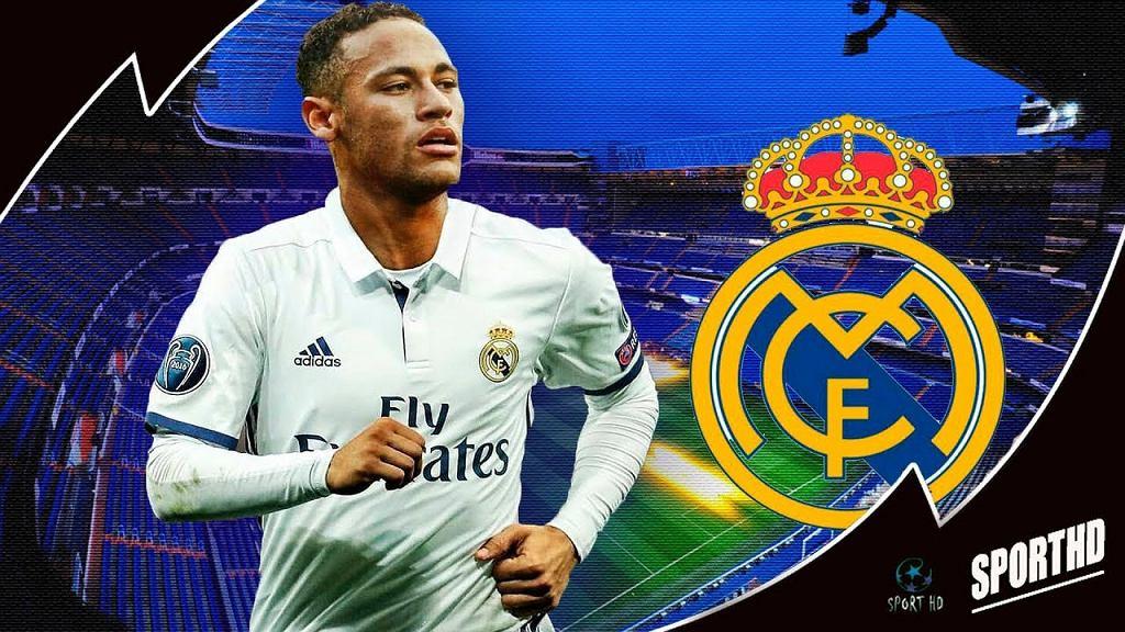 Neymar w koszulce Realu Madryt
