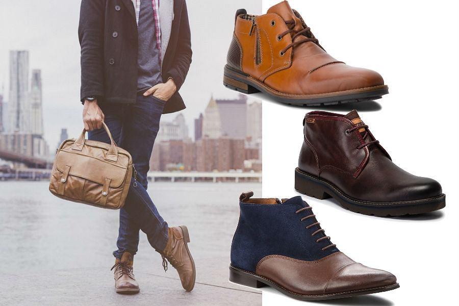 Męskie buty na jesień trzewiki