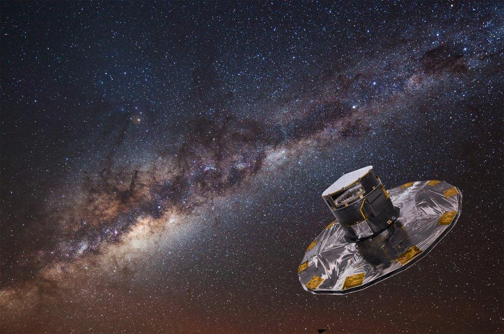 Gaja na tle Drogi Mlecznej. Widok z obserwatorium ESO w Paranal na pustyni Atacama w Chile.