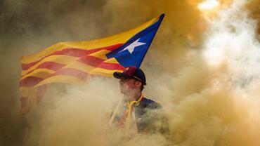 Setki tysięcy ludzi domagały się w środę na ulicach Barcelony niepodległości Katalonii. Barcelona, 11 września 2019