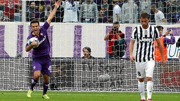 Fiorentina - Juventus 4:2. Pierwszy z lewej Giuseppe Rossi