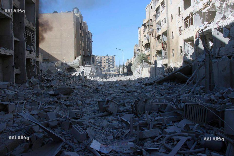 Bombardowania w Aleppo