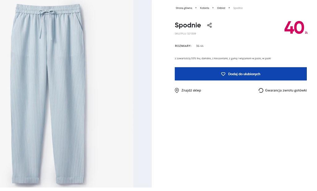 Spodnie lniane Pepco