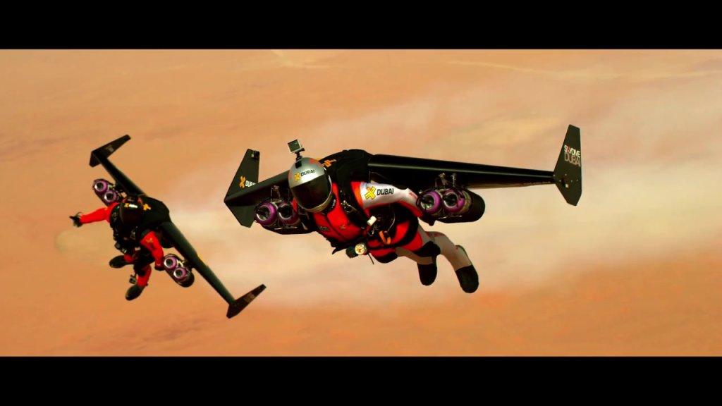 Przelot nad Dubajem w Jetpackach