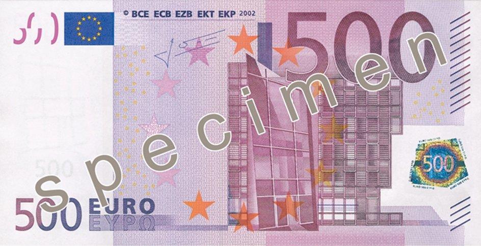 Banknot 500 euro.