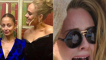 """Adele złożyła urodzinowe życzenia Nicole Richie. Wygląda jeszcze lepiej. Fani tracą cierpliwość do gwiazdy. """"Przestań się bawić"""""""