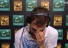 ATP w Paryżu. Wzruszony Janowicz popłakał się w trakcie wywiadu [WIDEO]