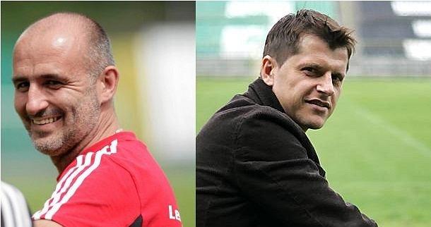 Michał Probierz i Cezary Kucharski