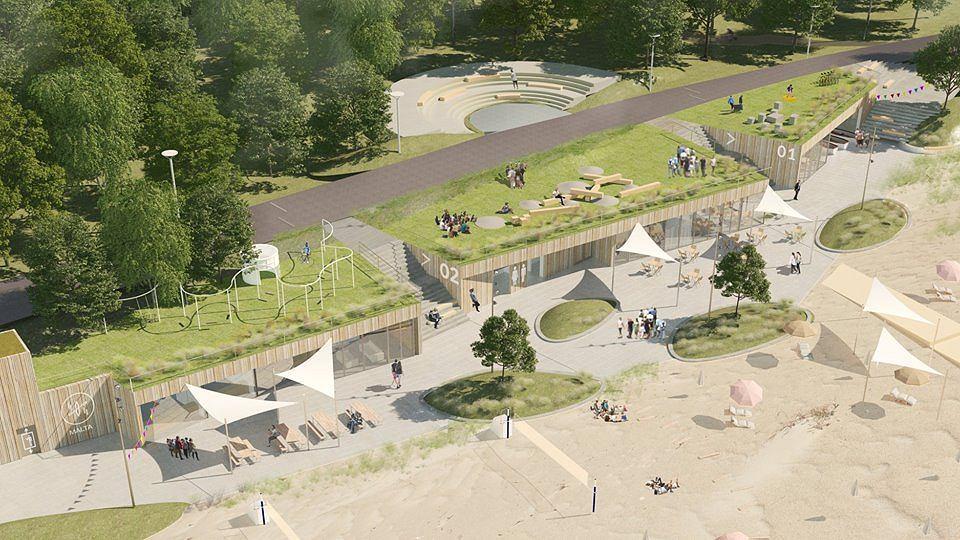 Jeden z projektów rekomendowanych w realizacji w konkursie na zagospodarowanie plaży i kąpieliska nad Jeziorem Maltańskim