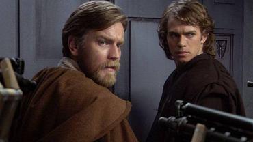 Ewan McGregor jako Obi-Wan Kenobi i Hayden Christensen jako Anakin Skywalker