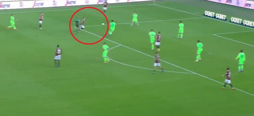 Fantastyczna akcja Karola Linettego w meczu z Lazio