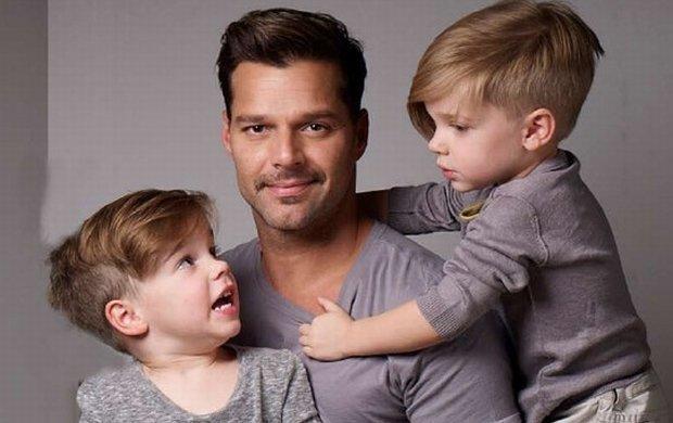 Ricky Martin z synami