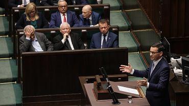 Premier Mateusz Morawiecki wygłasza exposé, 19.11.2019