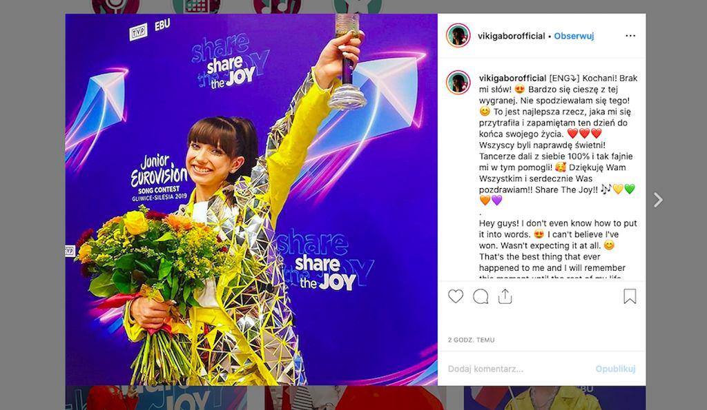 Eurowizja Junior, Viki Gabor zwyciężczynią