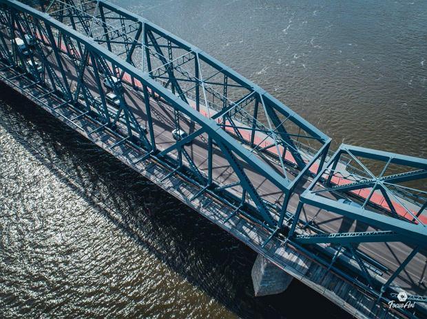 Zdjęcie numer 4 w galerii - Modernizacja mostu im. Piłsudskiego za 123 mln zł. Tak wygląda z drona