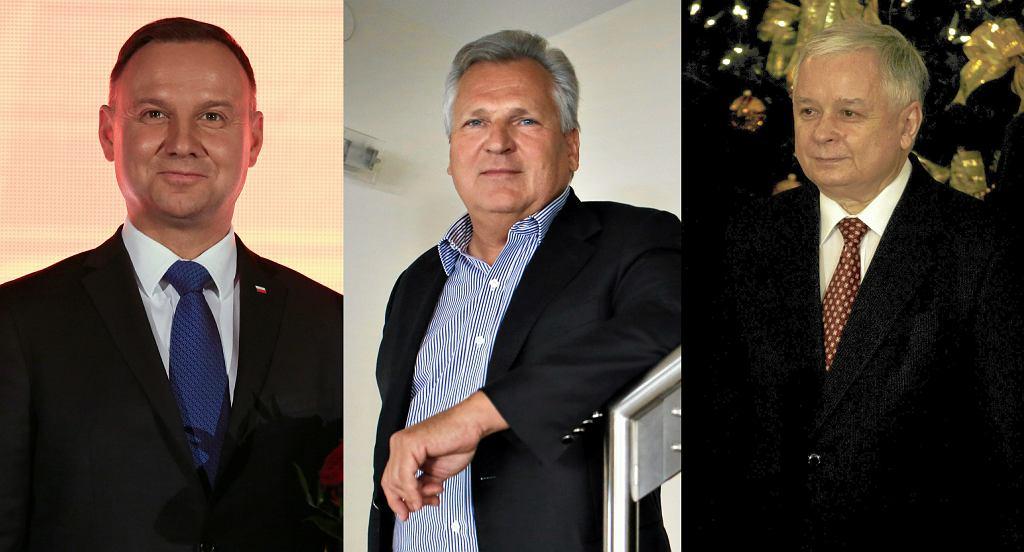 Prezydenci: Andrzej Duda, Aleksander Kwaśniewski i Lech Kaczyński
