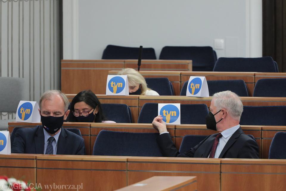 Senatorowie podczas prac nad pisowską ustawa Lex anty TVN. Warszawa, 9 września 2021